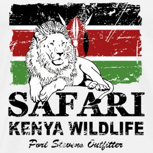 Lion - Safari Kenya Wildlife Sweatshirts - Herre premium T-shirt