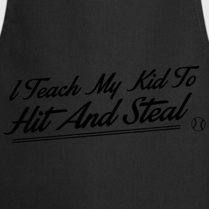 I teach my kid to hit and steal Tops - Keukenschort