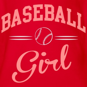 Baseball Girl Shirts - Organic Short-sleeved Baby Bodysuit