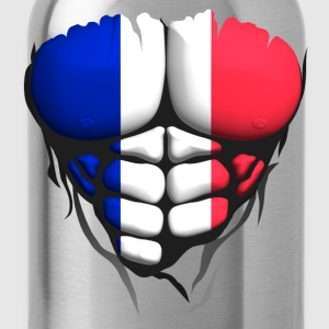 french flag torso body muscle abdos T-Shirts - Water Bottle