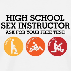 Sex teacher offers free trial lesson Mugs & Drinkware - Men's Premium T-Shirt