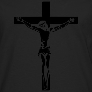 Jesus am Kreuz T-Shirts - Men's Premium Longsleeve Shirt