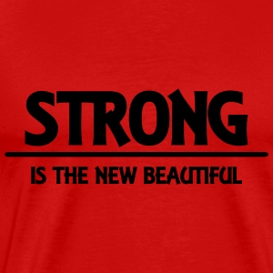 Strong is the new beautiful Manches longues - T-shirt Premium Homme