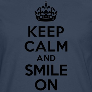 Keep calm and smile on Tabliers - T-shirt manches longues Premium Homme