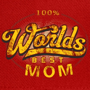 Worlds best Mom Muttertag original RAHMENLOS® - Snapback Cap