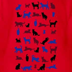 All cats vector Tee shirts - Body bébé bio manches courtes