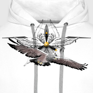 Aviator+eagle Shirts - Men's Premium Hoodie