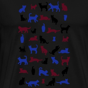 All cats vector Tabliers - T-shirt Premium Homme