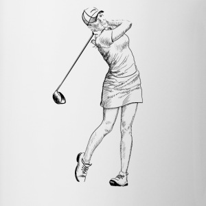 golf girl Toppar - Mugg
