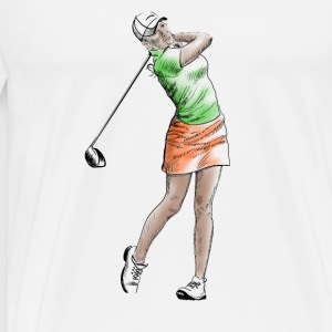 golf girl Toppe - Herre premium T-shirt