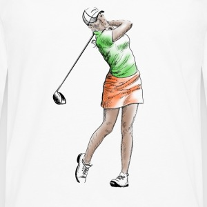 golf girl Topper - Premium langermet T-skjorte for menn