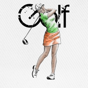 golf girl T-shirts - Basebollkeps