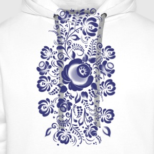 Ornament in Gzhel Style Tops - Men's Premium Hoodie