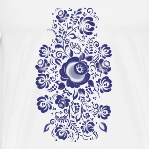 Ornament in Gzhel Style Tops - Männer Premium T-Shirt