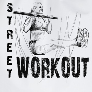 street workout girl T-Shirts - Drawstring Bag