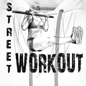 street workout girl T-Shirts - Men's Premium Hoodie