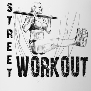 street workout girl T-Shirts - Mug