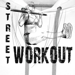 street workout girl Singlets - Premium hettegenser for menn