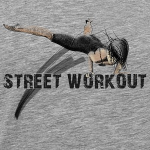 street workout girl Toppar - Premium-T-shirt herr