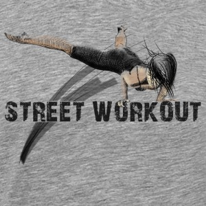 street workout girl Singlets - Premium T-skjorte for menn