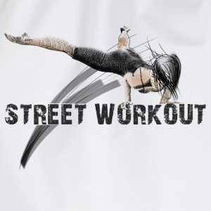 street workout girl T-Shirts - Turnbeutel