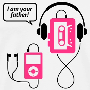 MP3 player, I am your father! Mugs & Drinkware - Men's Premium T-Shirt