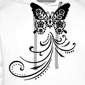 Butterfly by Customstyle Tee shirts - Sweat-shirt à capuche Premium pour hommes