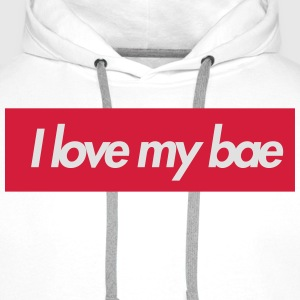 I love my bae Tee shirts - Sweat-shirt à capuche Premium pour hommes