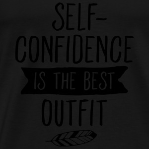 Self-Confidence Is The Best Outfit Top - Maglietta Premium da uomo