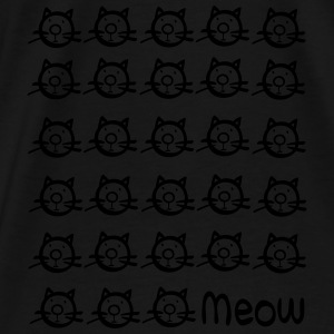 meow cats Contrast Colour Hoodie - Men's Premium T-Shirt