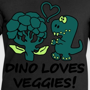 Dino Loves Veggies Broccoli Tee shirts - Sweat-shirt Homme Stanley & Stella