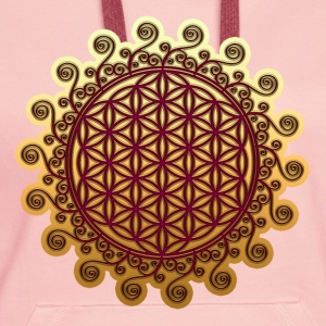 FLOWER OF LIFE, SPIRITUAL SYMBOL, SACRED GEOMETRY Tee shirts - Sweat-shirt à capuche Premium pour femmes