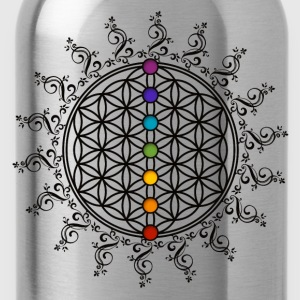 Blume des Lebens, flower of life , Chakra, yoga - Trinkflasche