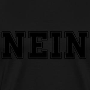 NEIN college Long Sleeve Shirts - Men's Premium T-Shirt