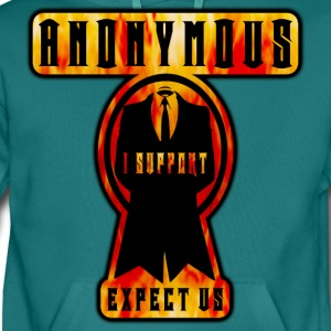 anonymous i support expect us Tee shirts - Sweat-shirt à capuche Premium pour hommes