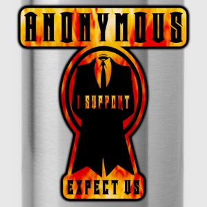 anonymous i support expect us Tee shirts - Gourde