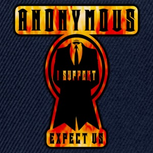 anonymous i support expect us Tee shirts - Casquette snapback