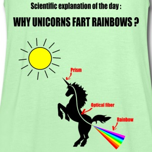 Unicorns and Rainbows T-Shirts - Women's Tank Top by Bella