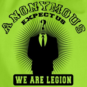 anonymous expect us Tee shirts - Sac de sport léger