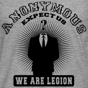 anonymous expect us Tee shirts - T-shirt manches longues Premium Homme