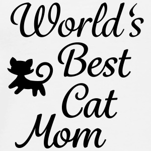 World's Best Cat Mom Tassen & rugzakken - Mannen Premium T-shirt