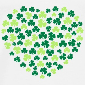 shamrocks heart Tops - Men's Premium T-Shirt