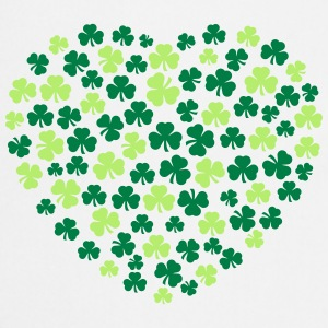shamrocks hart T-shirts - Keukenschort
