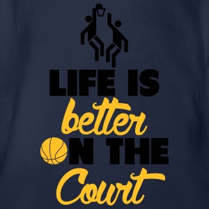 Life is better on the Court Langarmshirts - Baby Bio-Kurzarm-Body