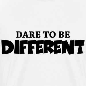 Dare to be different! Skjorter med lange armer - Premium T-skjorte for menn