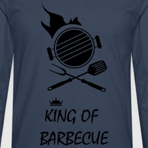 king of barbecue grillade Tabliers - T-shirt manches longues Premium Homme