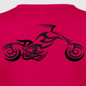 Tribal Tattoo Style Motorcycle Back Print T-Shirt - Women's Premium Longsleeve Shirt