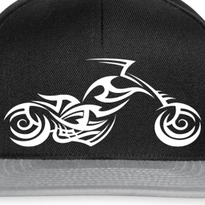 White Tribal Tattoo Motorcycle T-Shirt - Snapback Cap
