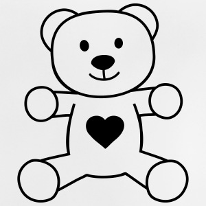 teddy bear with heart bamse med hjerte T-shirts - Baby T-shirt