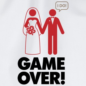 Game over. I am married. T-Shirts - Drawstring Bag